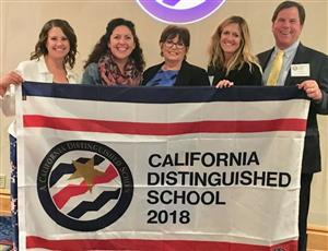 Proudly showing our California Distinguished School flag