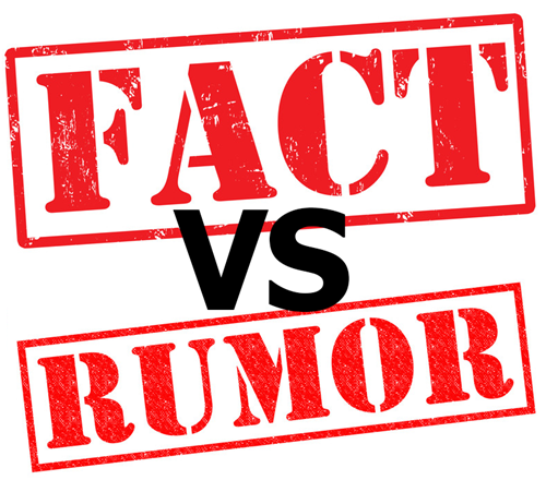 "Graphic of ""FACTS vs RUMORS"""
